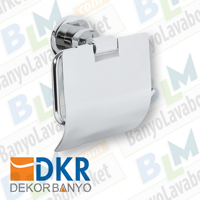 Kapaklı Kağıtlık Dekor Belezza - Krom