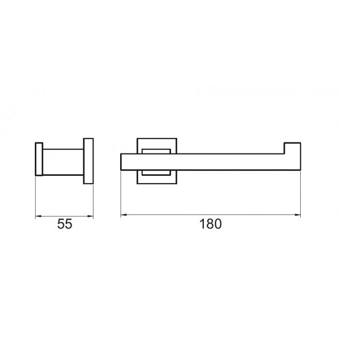 Kağıtlık Dekor Corner Lux - Krom
