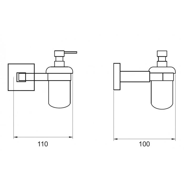 Sıvı Sabunluk Dekor Corner Lux - Krom