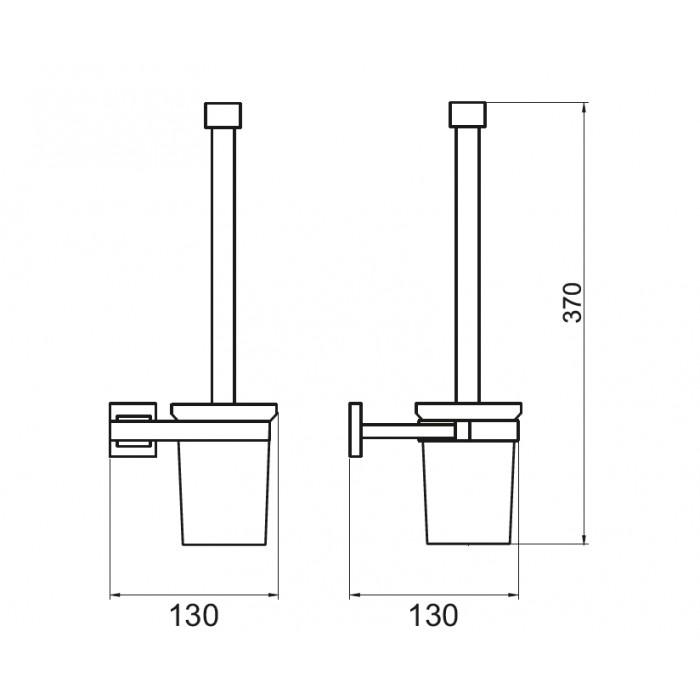 Tuvalet Fırçası Dekor - Corner Lux - Krom