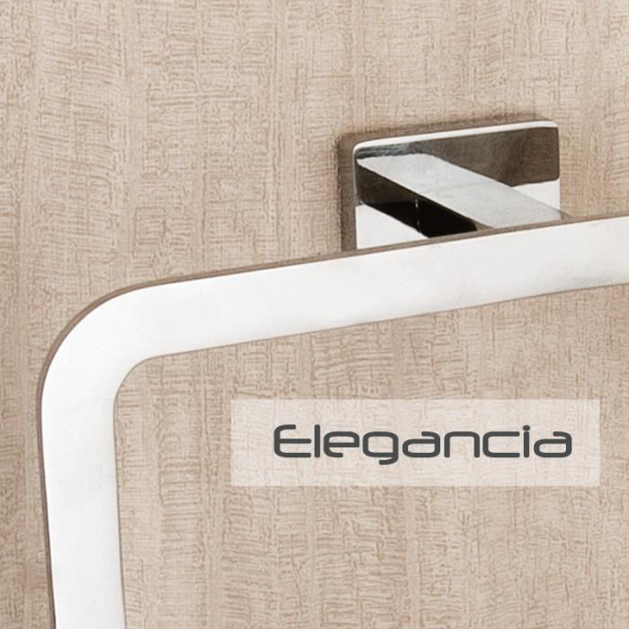 Tuvalet Fırçası Dekor - Elegancia - Krom