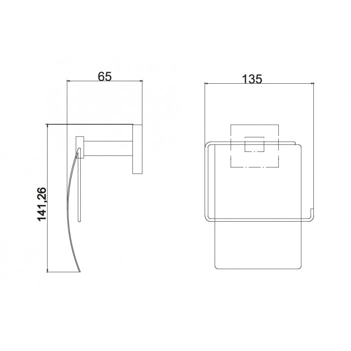 Kapaklı Kağıtlık Dekor Elegancia - Krom