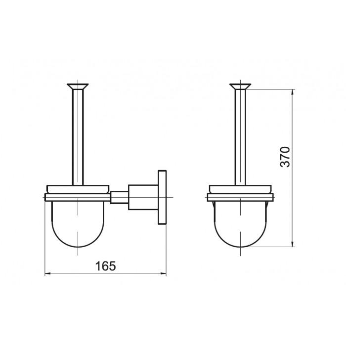 Tuvalet Fırçası Dekor Ezgi Plus - Krom