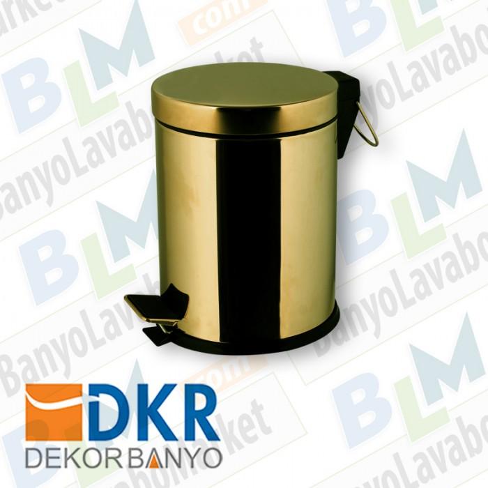 Çöp Kovası Dekor Golden Kristal - Altın