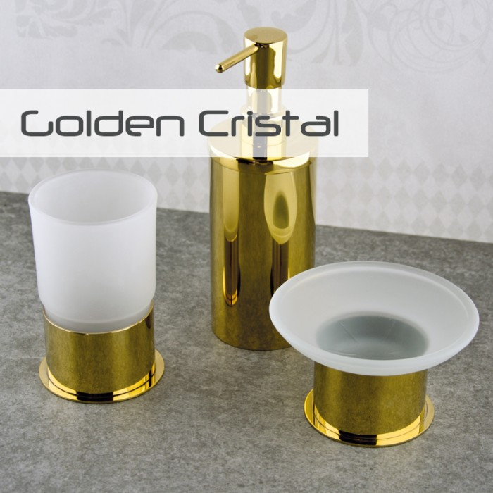 Tuvalet Fırçası Dekor Golden Kristal - Altın