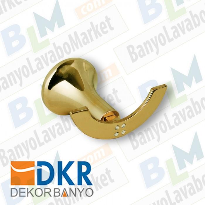 İkili Askı Dekor Golden Kristal - Altın