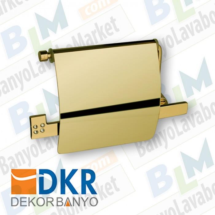 Kapaklı Kağıtlık Dekor Golden Kristal - Altın
