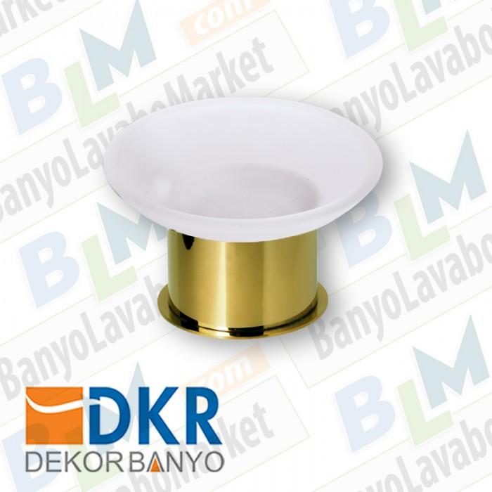 Sabunluk Yuvarlak Dekor Golden Kristal - Altın