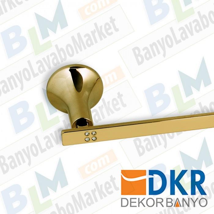 Uzun Havluluk Dekor Golden Kristal - Altın
