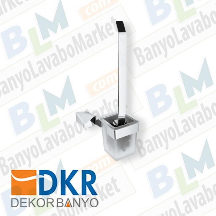 Tuvalet Fırçası Dekor Kuvars - Krom