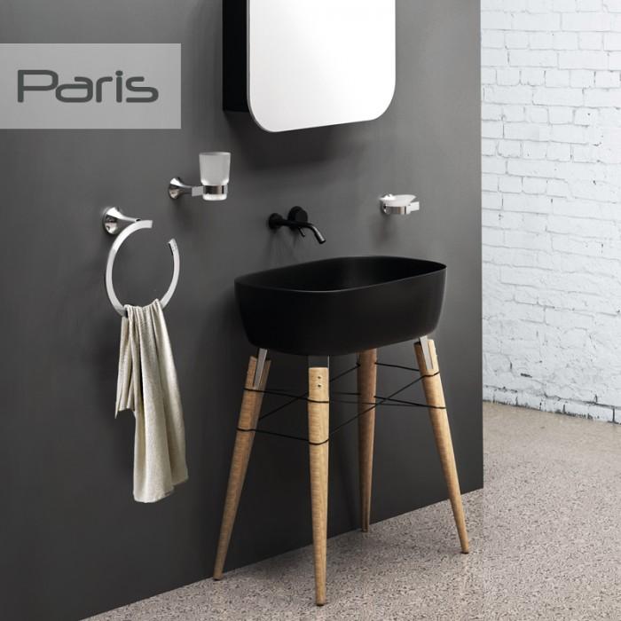 Tuvalet Fırçası Dekor Paris - Krom