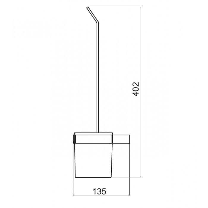 Tuvalet Fırçası Dekor SS-304 - Siyah