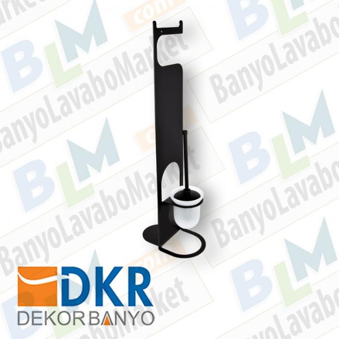 Tuvalet Fırçası Seti Dekor SS-304 - Siyah