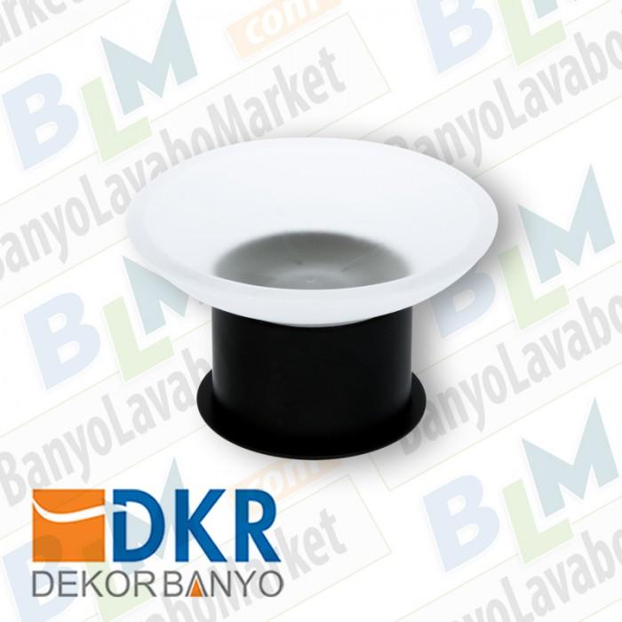 Sabunluk Yuvarlak Dekor SS-304 - Siyah