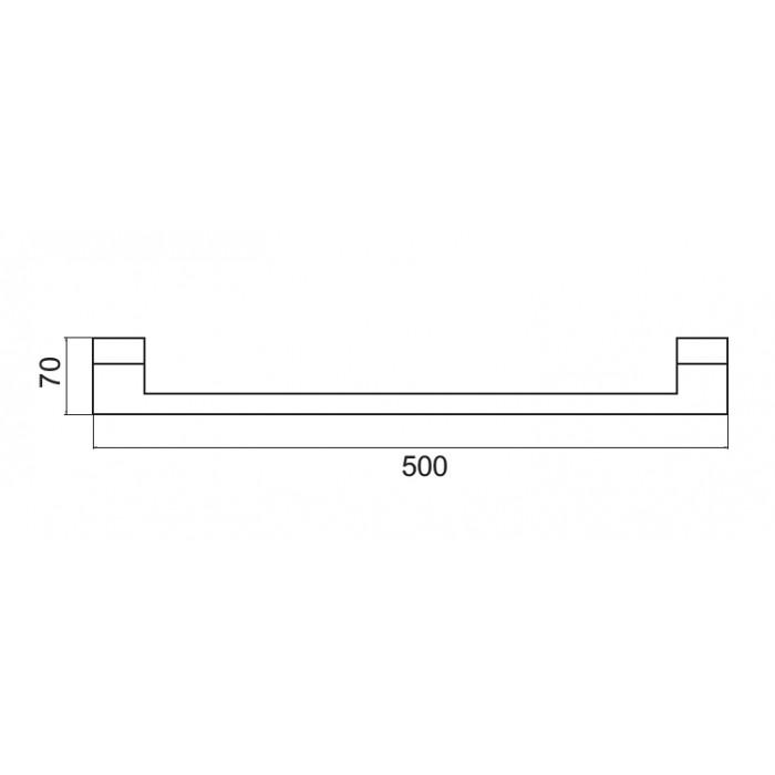 Uzun Havluluk Dekor SS-304 - Krom