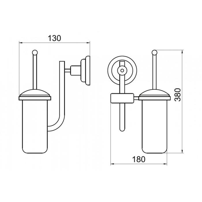 Tuvalet Fırçası Rozetli Dekor - Toledo - Antik