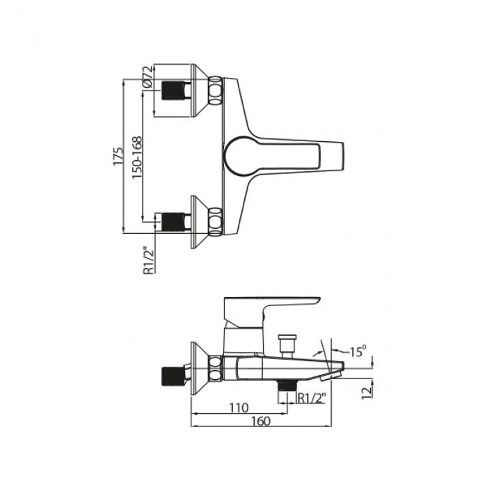 Banyo Bataryası NSK Alamera - Krom